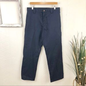 Dickies NWT Navy Flat Front FR Work Pants 33x32
